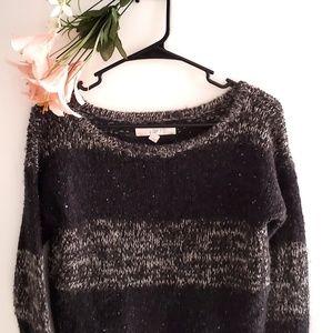 Ann Taylor LOFT Sweater Grey and Black
